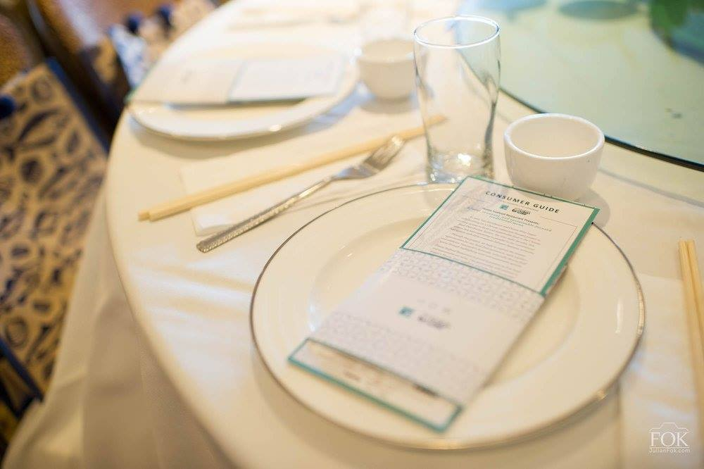 Hua x Oceanwise - pamphlet on table setting