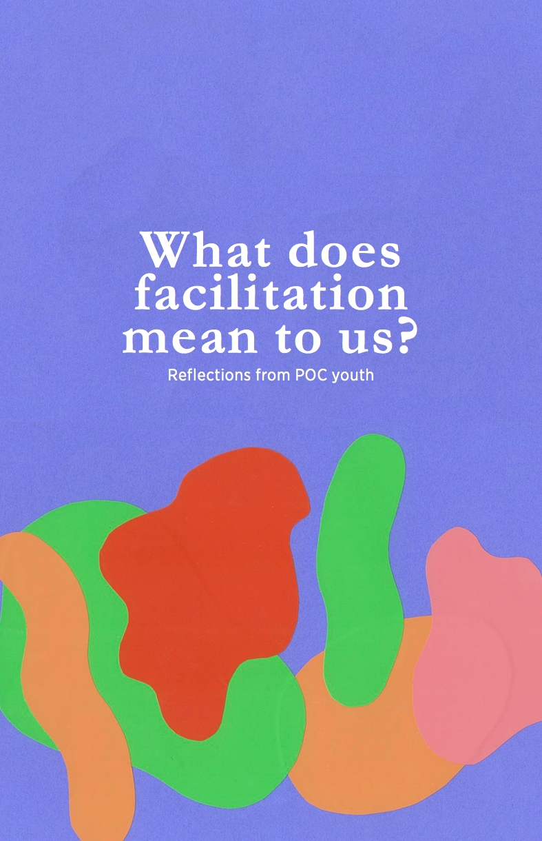 "Cover of the guide ""What does facilitation mean to us?"""